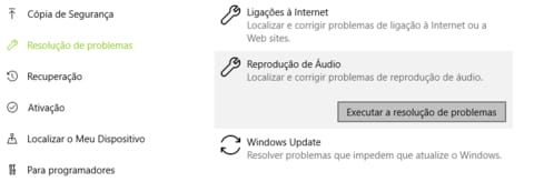 problemas de som do windows
