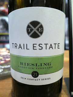 Trail Estate Skin Contact Series Lakeview Vineyard Riesling 2015 (91 pts)