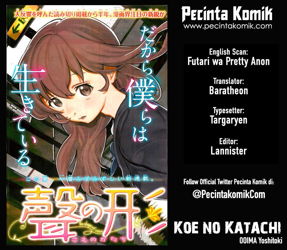 Koe no Katachi Chapter 22-1