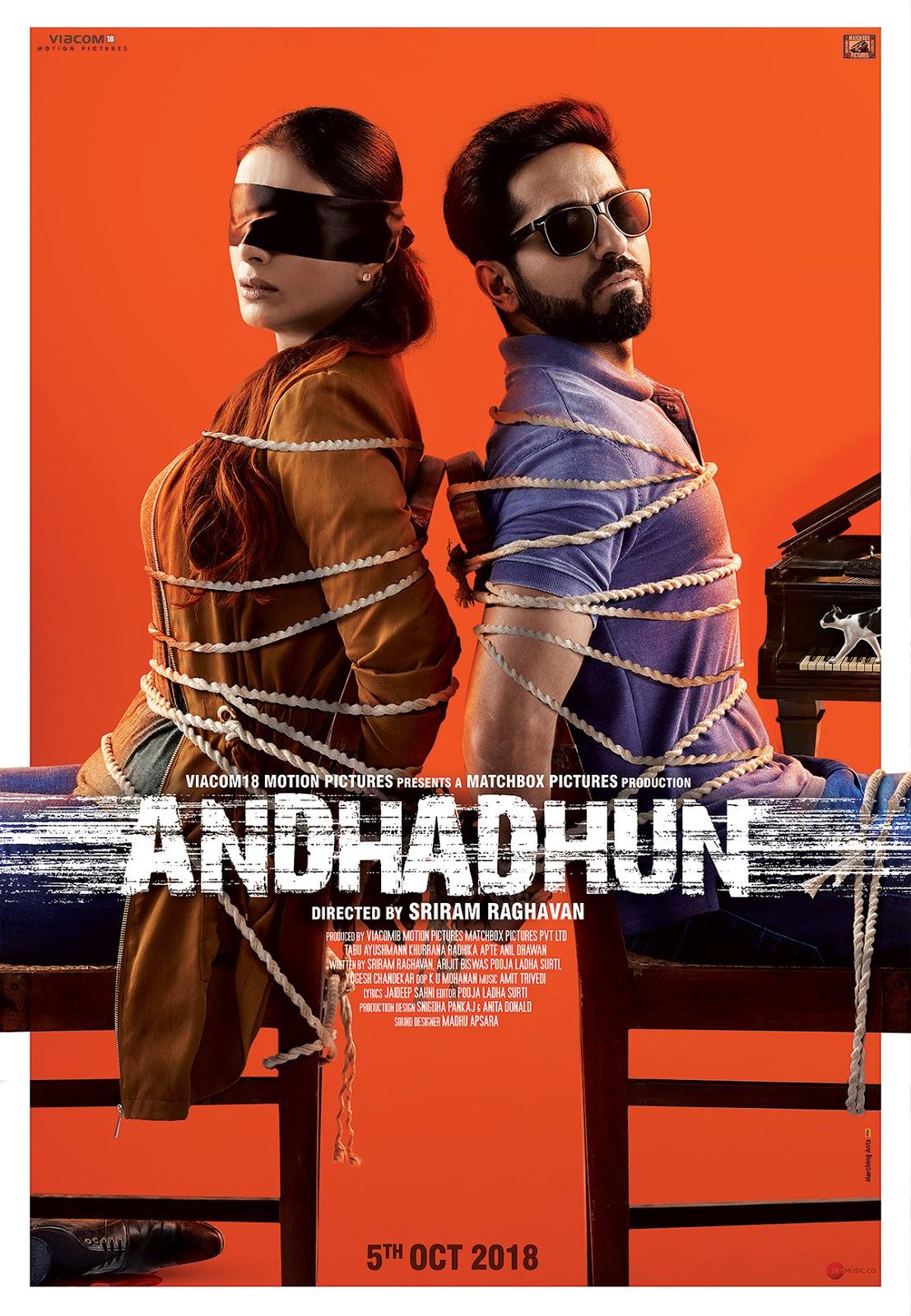 Andhadhun 2018 Full Movie 480P Hdrip 400Mb X264-9839