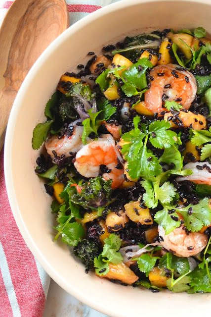 Asian Shrimp and Black Rice Salad
