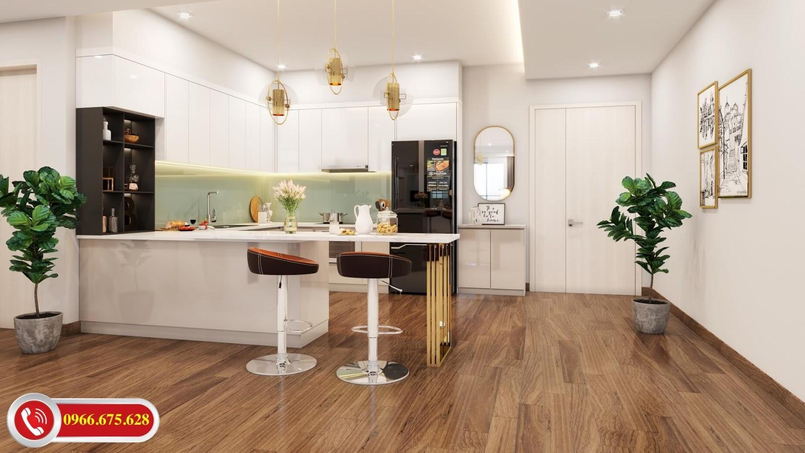 Bếp ăn căn hộ A4 chung cư 622 Minh Khai