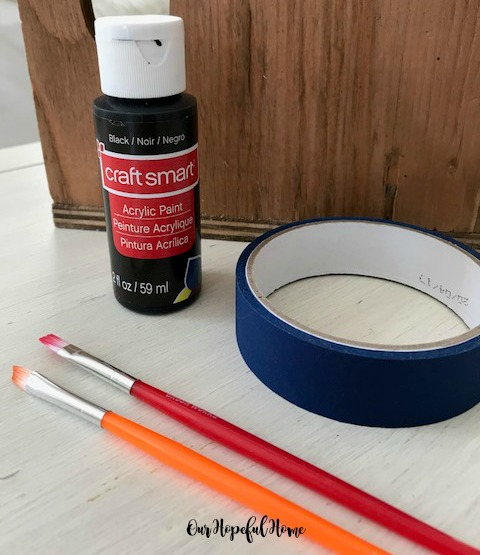 stencilling supplies paint painter's tape paint brush