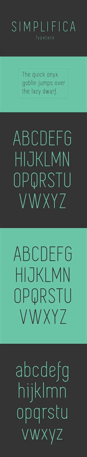 Download Gratis Sans Serif Komersial Font - Simplifica Typeface