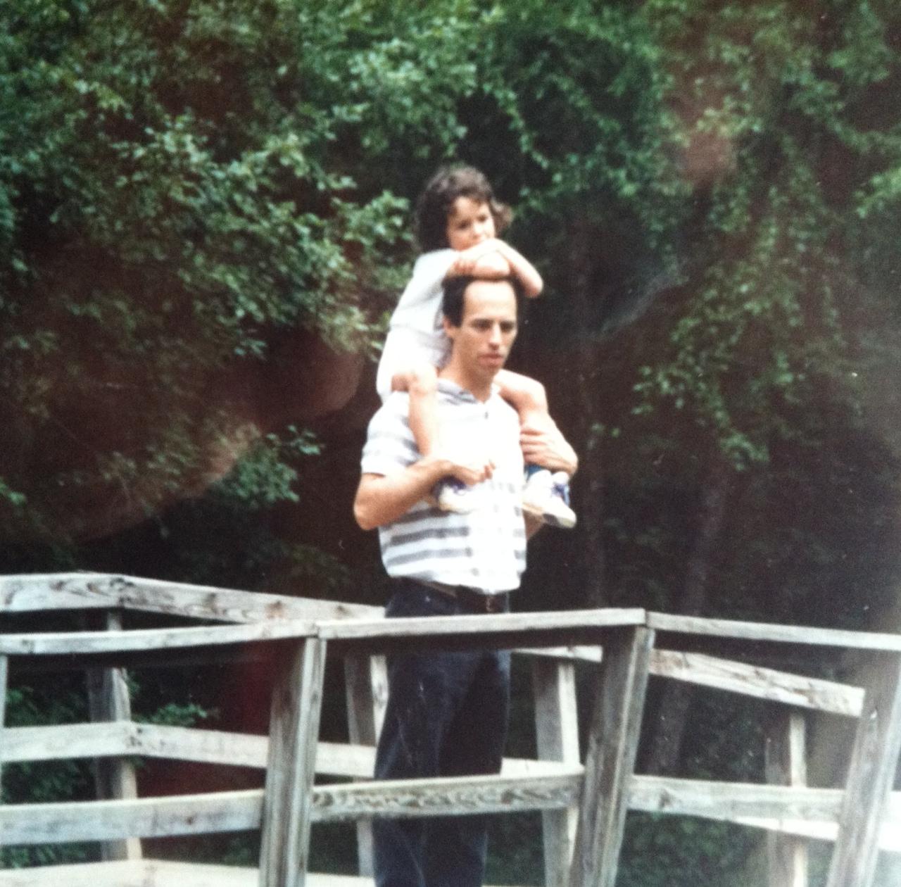 parent and child enjoying nature