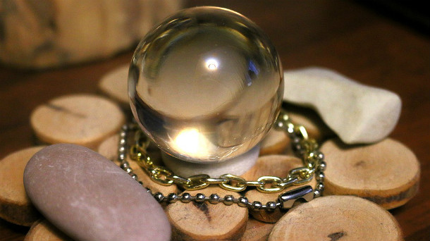 A crystal ball, symbolic of divination