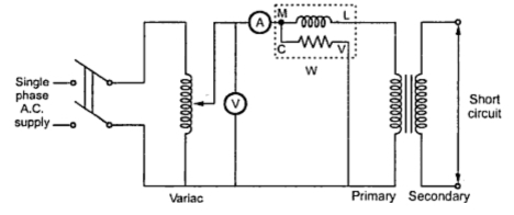 Three Phase Transformer Wiring Diagram Track With Measurements Open Circuit Test And Short Tests On Single 3 Fig 1 Experimental For O C