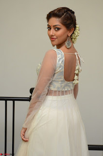 Anu Emmanuel in a Transparent White Choli Cream Ghagra Stunning Pics 024.JPG