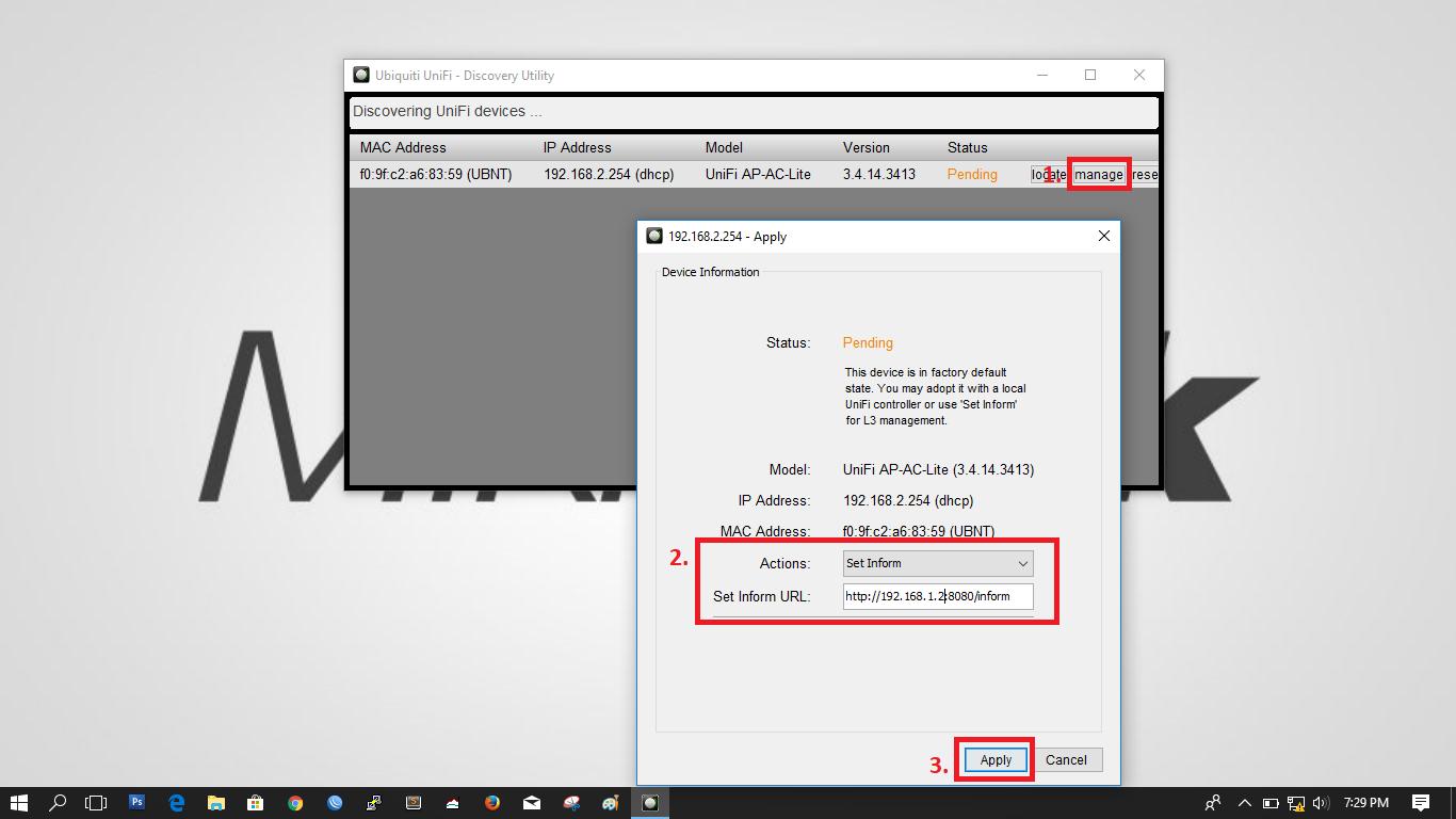 Konfigurasi AP Unifi dan Server Controller