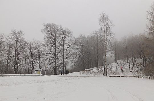 Przełęcz Przegibek (663 m n.p.m.).