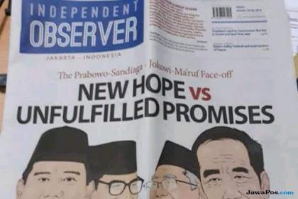 Viral di Twitter, Ini Penjelasan Koran Independent Observer Edisi Headline 'New Hope vs Unfulfilled Promises'