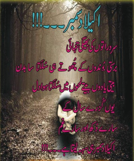 Urdu Poetry | Urdu Sad Poetry | December Sad Poetry | December Ghazal | December Sad Ghazal | Tanhai Poetry - Urdu Poetry World,Urdu poetry about death, Urdu poetry about mother, Urdu poetry about education, Urdu poetry best, Urdu poetry bewafa