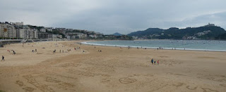Playa de la Concha de San Sebastián.