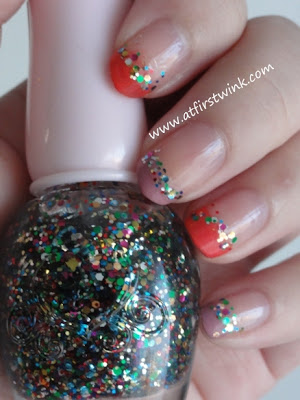 Nail art using the Etude House nail polish PWH901