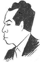 Caricatura del ajedrecista Miquel Albareda