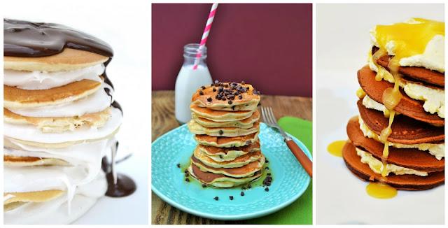 Stacks of homemade pancakes