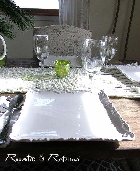Casual dinner place setting for entertaining.