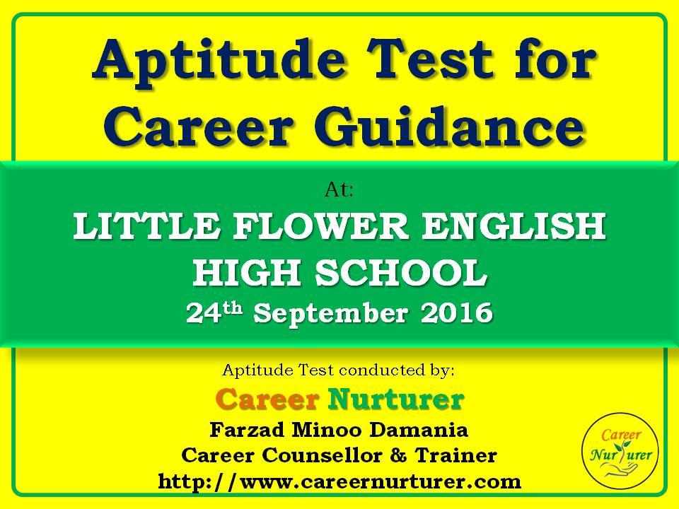 Aptitude Test for Career Guidance at Little Flower English High - career aptitude test