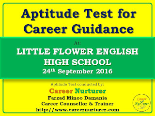 Aptitude Test for Career Counselling and Guidance by Farzad Damania