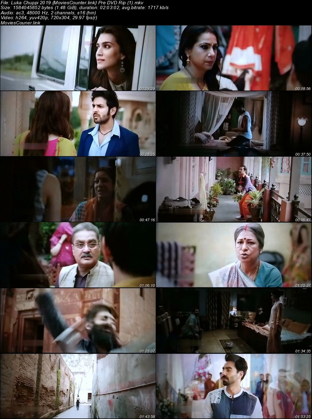 Screen Shots Luka Chuppi 2019 Hindi HD 720p
