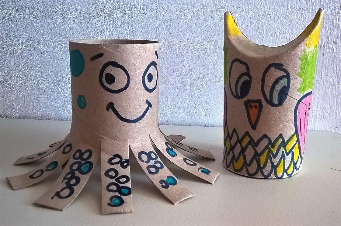 Tres ar ndanos dieta limpia casa limpia planeta limpio - Manualidades con rollos de papel ...