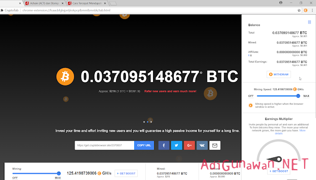 Review CryptoTab dan Proses Cara Kerja Pertambangan Bitcoin Gratis di CryptoTab