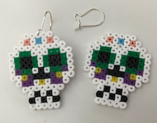 Hama bead Halloween Sugar Skull designs