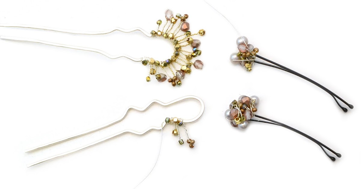 The Bead Table Free Tip Friday Embellished Hairpins