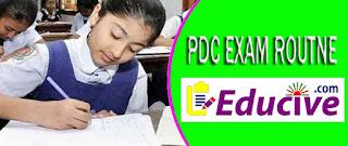 Ebtedayee exam routine 2016