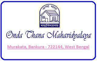 Onda Thana Mahavidyalaya, Murakata, Bankura - 722144, West Bengal