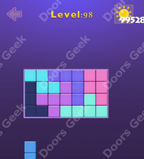 Cheats, Solutions, Walkthrough for Move Blocks Easy Level 98