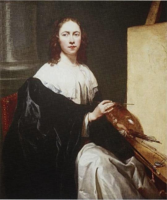 Autoportrait avec Chevalet, Michaelina Woutiers