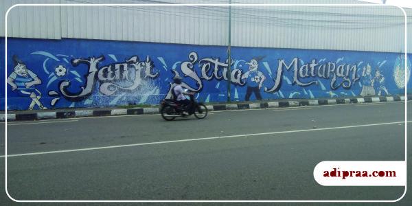 Mural Semar di pertigaan Jalan Kusumanegara, Yogyakarta | adipraa.com