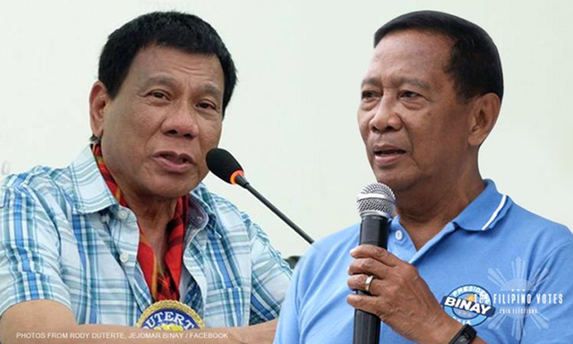 Duterte: Binay and his family will go to jail if he doesn't win
