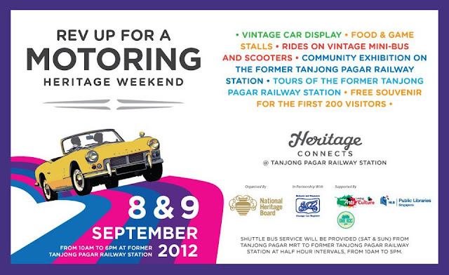 Singapore Motoring Heritage Day 2012 - Vintage cars, classic mini-vans and scooters