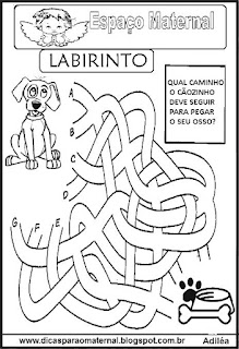 Atividade de labirinto para maternal