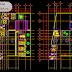 مخطط مبدئي مركز تعليمي اوتوكاد dwg