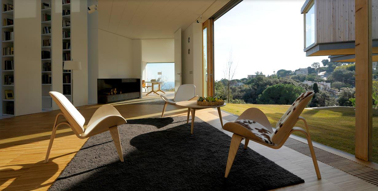 Mediterranean Interior Living Rooms W Big Screen Tv