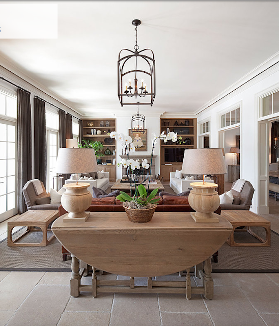living room with distressed wood and upholstered furniture in bahamas