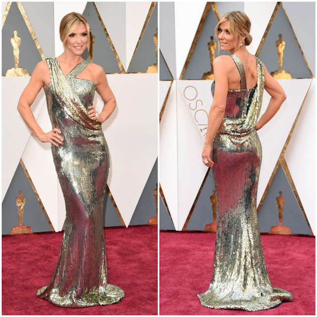 WHO WORE WHAT?.....88th Annual Academy Awards: Debbie Matenopoulos in NIKOLAKI by Nick Verreos and David Paul--Photos + Fashion Sketch!