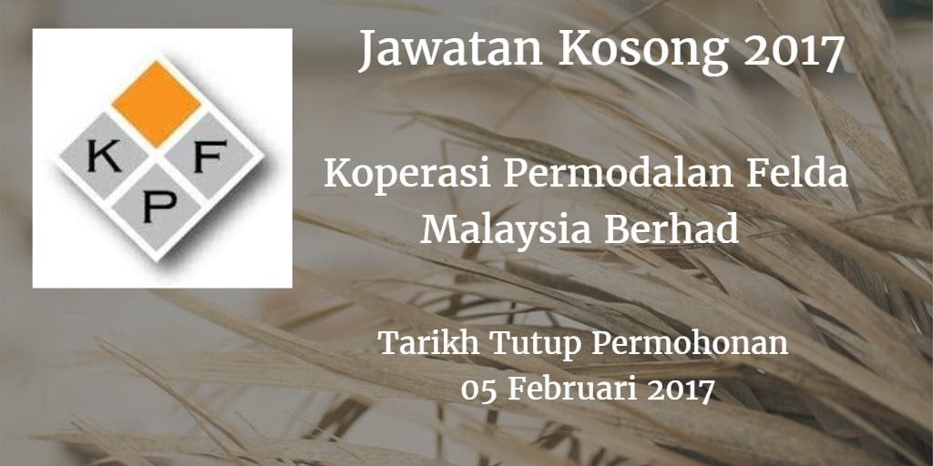 Jawatan Kosong Koperasi Permodalan Felda Malaysia Berhad 05 Februari 2017