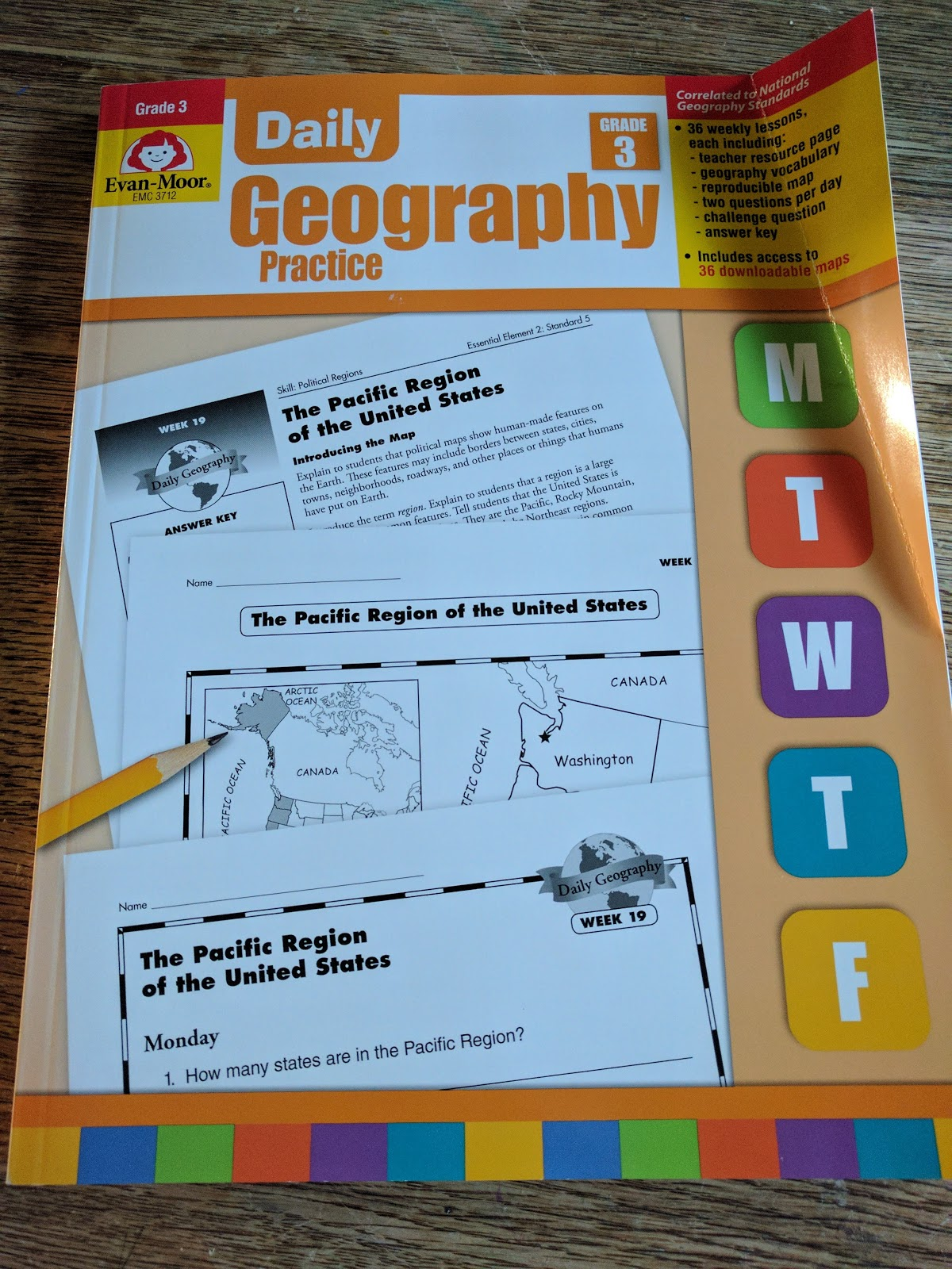 15 Key Week Grade Daily 6 Answer Geography