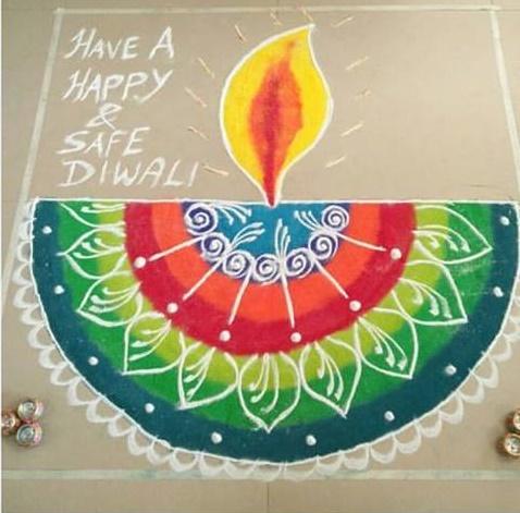 Draw a Rangoli (Diwali-Deepawali)