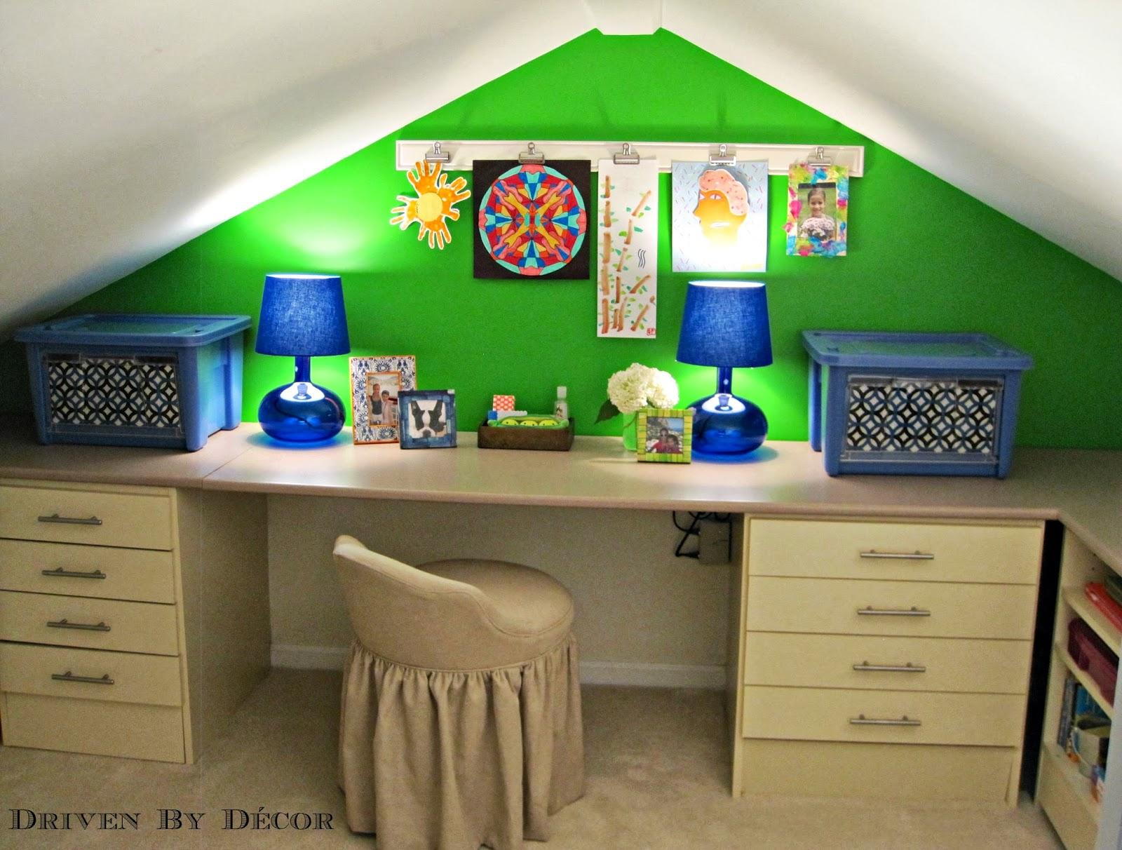 Craft Room Wall Decor: Kids Craft Room Makeover