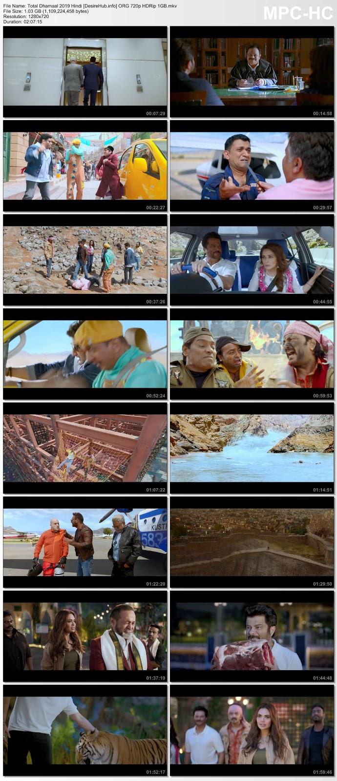 Total Dhamaal 2019 Hindi ORG 720p HDRip 1GB Desirehub
