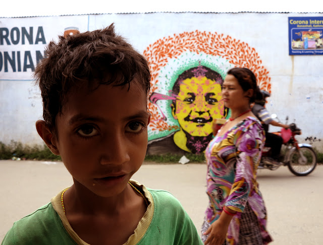 street art by stinkfish in nepal 3