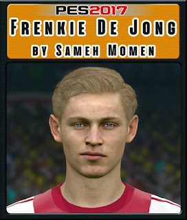 PES 2017 Faces Frankie De Jong by Sameh Momen