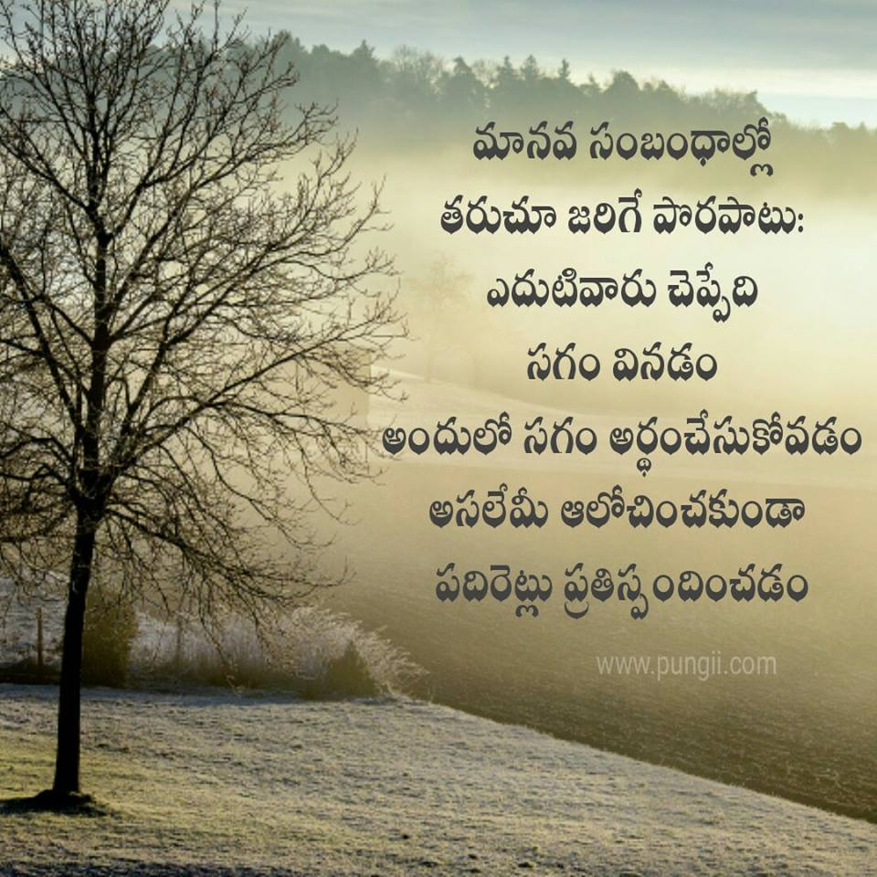 Life Quotes In Telugu Pungii
