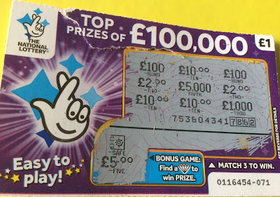 £1 Purple National Lottery Scratch Card