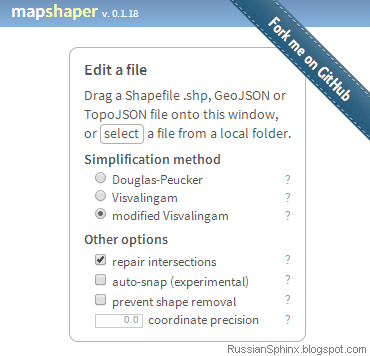 RUSSIAN SPHINX: Simplifying shapefiles in MapShaper